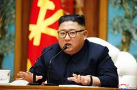 North Korean leader Kim Jong-un presided over Politburo meeting on Saturday. (KCNA-Yonhap)