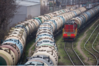 Rail wagons for oil cargo stand in sidings at the RN-Tuapsinsky refinery in Tuapse, Russia, on Monday, March 23, 2020. MUST CREDIT: Bloomberg photo by Andrey Rudakov/Bloomberg