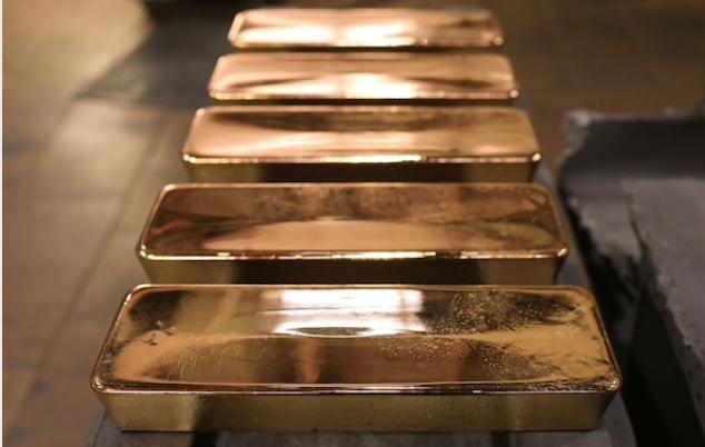 Gold refining at the JSC Krastsvetmet non-ferrous metals plant in Krasnoyarsk, Russia, on Nov. 5, 2019. MUST CREDIT: Bloomberg photo by Andrey Rudakov.
