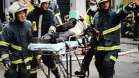 A fire at a karaoke bar in Taipei has caused five deaths, April 26, 2020. [Photo/Xinhua]