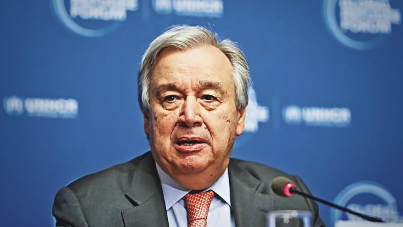 File photo: United Nations Secretary-General Antonio Guterres.