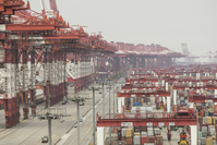 The container area of the Yangshan Deep Water Port in Shanghai on Feb. 4, 2020. Photographer: MUST CREDIT: Bloomberg photo by Qilai Shen.