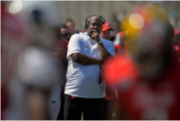 Maryland Terrapins Coach Michael Locksley in 2019. MUST CREDIT: Washington Post photo by John McDonnell