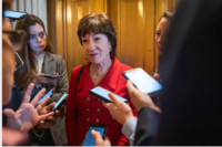 Sen. Susan Collins, R-Maine, faces a difficult re-election contest this year. MUST CREDIT: Photo for The Washington Post by Amanda Voisard