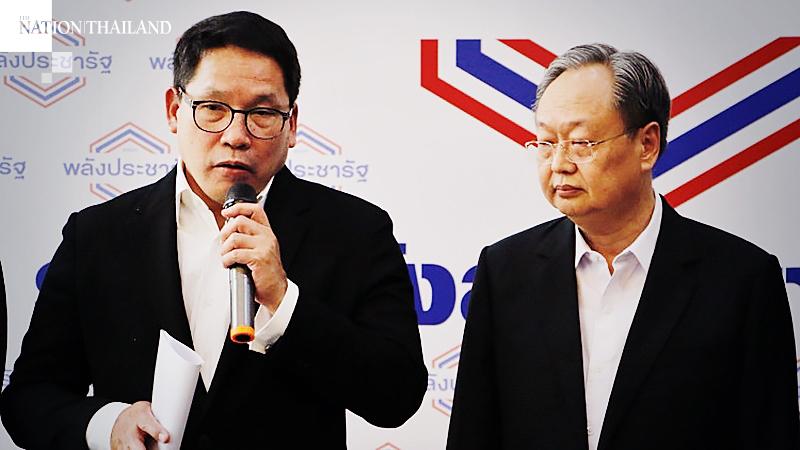 File Photo: Uttama Savanayana, Left, Sontirat Sontijirawong, Right