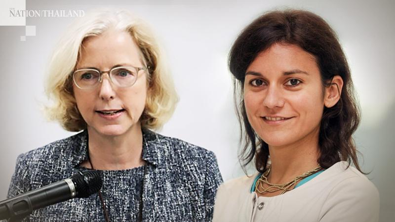Lydia Ruddy, right, and Giulia Ajmone Marsan
