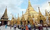 Shwedagon Pagoda is the most notable landmark in Yangon. SIN CHEW DAILY