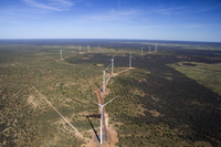 Wind turbines at Kennedy Energy Park in Queensland.