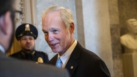 Senator Ron Johnson, R-Wis., speaks to the press in January 2020. MUST CREDIT: Photo for The Washington Post by Amanda Voisard
