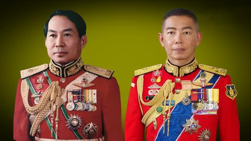 General Chettha Thanajaro, Left, Army chief Apirat Kongsompong, Right