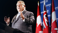 Doug Ford, Ontario's premier, at the Economic Club of Canada in Toronto on Jan. 21, 2019. MUST CREDIT: Bloomberg photo by Cole Burston.