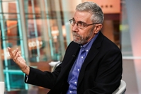 Paul Krugman during a Bloomberg Television interview in New York on Tuesday, Aug. 16, 2016. MUST CREDIT: Bloomberg photo by Christopher Goodney