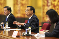 Premier Li Keqiang answers questions at a news conference after the conclusion of the national legislative session on May 28, 2020, in Beijing. [Photo by Feng Yongbin/China Daily]