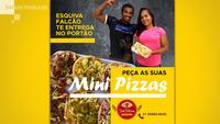 Advertisement for Esquiva Falcao's pizza delivery. MUST CREDIT: Courtesy of Esquiva Falcao