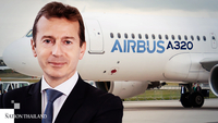 Guillaume Faury, chief executive officer of Airbus, at a news conference in Toulouse, France, on Feb. 13, 2020.