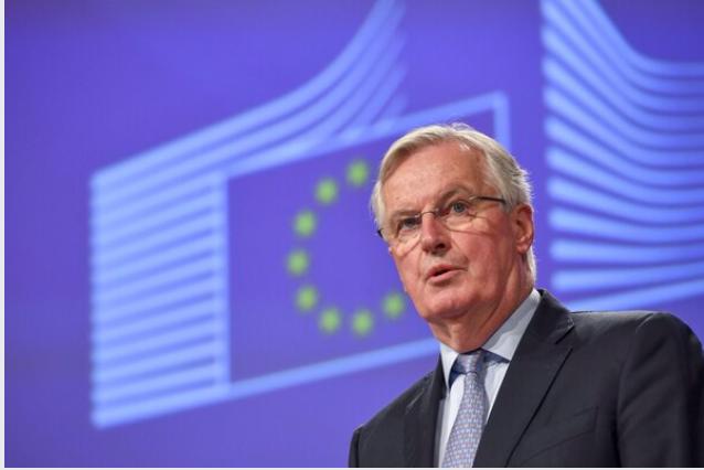 Michel Barnier, chief negotiator for the European Union, in Brussels on March 5, 2020. MUST CREDIT: Bloomberg photo by Geert Vanden Wijngaert.