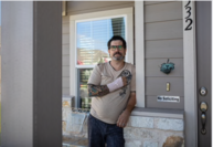 Steve Arawn at his home in Pflugerville, Texas on June 5, 2020. Arawn was struck by a