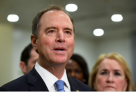 Rep. Adam Schiff, D-Calif., talks with reporters in January 2020. MUST CREDIT: Washington Post photo by Katherine Frey