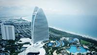 A view of the Atlantis Sanya resort in Sanya, Hainan province on April 4, 2020. [Photo/Xinhua]