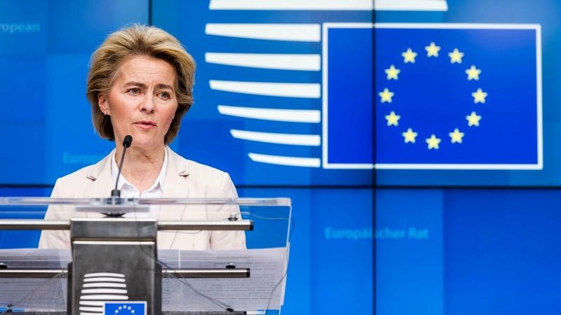Ursula von der Leyen, European Commission president, in Brussels on March 9, 2020. MUST CREDIT: Bloomberg photo by Geert Vanden Wijngaert.