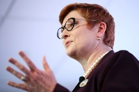 Marise Payne, Australia's foreign minister, speaks during an address to the United States Studies Centre in Sydney, Australia, on Oct. 29, 2019. MUST CREDIT: Bloomberg photo by Brendon Thorne Location: Sydney, Australia