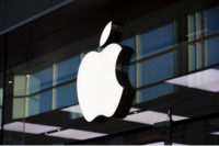An Apple inc. logo is displayed at their store at Yorkdale mall in Toronto on Aug. 22, 2019. MUST CREDIT: Bloomberg photo by Brent Lewin.