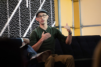 Tobias Lutke, founder and chief executive officer of Shopify. speaks at a global technology conference in Brooklyn, N.Y., on Oct. 30, 2019. MUST CREDIT: Bloomberg photo by Cate Dingley