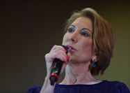 Then-Republican vice presidential candidate Carly Fiorina addresses supporters at a rally in Fort Wayne, Ind., in April 2016. MUST CREDIT: Washington Post photo by Ricky Carioti.
