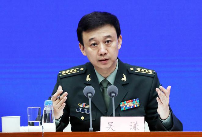 The Ministry of National Defense spokesman Wu Qian. [File photo by Zhu Xingxin/chinadaily.com.cn]