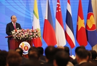 Vietnamese Prime Minister Nguyễn Xuân Phúc addressed the opening ceremony of ASEAN 36th summit held in Hà Nội on Friday morning. — VNA/VNS Photo Thống Nhất
