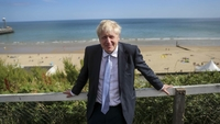 Britain's Prime Minister Boris Johnson poses for a photograph as he departs from a Conservative party leadership campaign event in Bournemouth, U.K., on July 2, 2019. MUST CREDIT: Bloomberg photo by Simon Dawson.