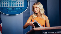 White House Press Secretary Kayleigh McEnany departs after speaking during a press briefing at the White House on Monday, June 29, 2020 in Washington. MUST CREDIT: Washington Post photo by Jabin Botsford