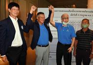 Methee Sudasana na Ayudhaya, second from left, wins the PGA Thailand election.