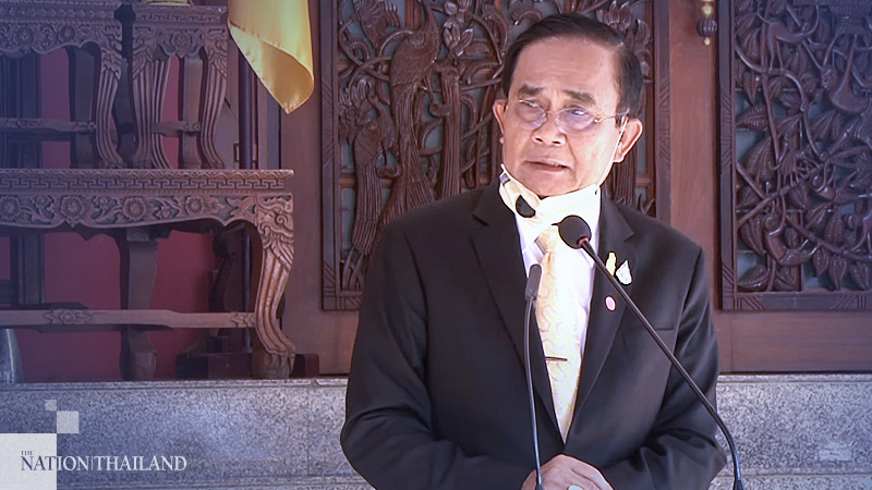 Prime Minister Prayut Chan-o-cha announces his plan to reshuffle the Cabinet after chairing a meeting of the National Security Council on July 9.