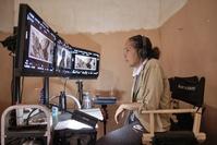 Director Gina Prince-Bythewood on the set of