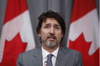 Justin Trudeau, Canada's prime minister, speaks during a news conference in Ottawa, Ontario, Canada, on July 8, 2020. MUST CREDIT: Bloomberg photo by David Kawai.