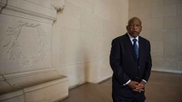 John Lewis is seen at the Lincoln Memorial in Washington in 2013. MUST CREDIT: Washington Post photo by Nikki Kahn.