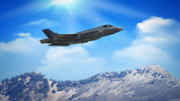 A Lockheed Martin F-35A jet flies during a training mission at Hill Air Force Base in Utah in 2016. MUST CREDIT: Bloomberg photo by George Frey