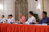 PM Lee reiterated his pledge to see the country through the crisis at the Cabinet announcement on July 25, 2020.PHOTO: MCI