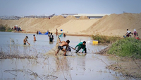 The report said 370,000 to 380,000 cubic metres of wastewater is discharged into Boeung Tompun lake every day and it is filled with 77.66 million cubic metres of sand.  Photo Credit: Phanom Penh post/Hong Menea