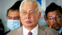 Guilty as charged: Najib during a press conference after sentencing. — IZZRAFIQ ALIAS/The Star