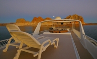 The upper deck of an Excursion houseboat on Lake Powell in the Glen Canyon National Recreation Area, which spans northern Arizona and southern Utah. MUST CREDIT: Aramark Photo by: Aramark — The Washington Post Location: n/an/a
