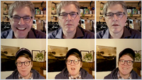 Geoff Edgers and Hannah Gadsby on July 17 in Edgers' twice-weekly Instagram Live show