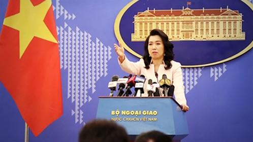 Vietnamese foreign ministry spokesperson Lê Thị Thu Hằng at Thursday's press briefing in Hà Nội. — VNA/VNS Photo Lâm Khánh