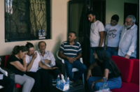 Charbel Hitti's mother, second from left, sits next to Charbel Karam's father as they cry for the young men feared lost in the blast. Hitti, 22, and cousin Najib Hitti, 20, were firefighters along with Karam, 32, their uncle. The three grew up as best friends in the village of Qartaba. CREDIT: Photo by Lorenzo Tugnoli for The Washington Post