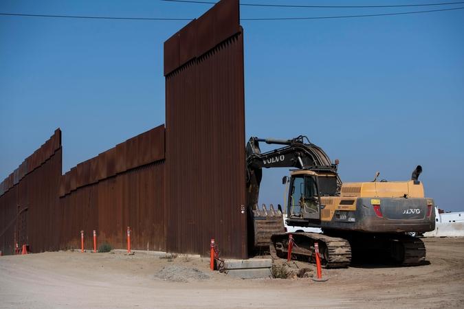 File photo of U.S.-Mexico border wall