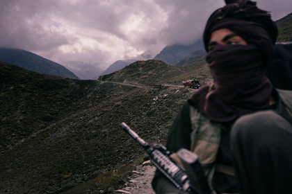File photo: A Taliban fighter