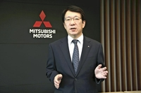 Mitsubishi Motors CEO Kato speaks during an interview with The Yomiuri Shimbun