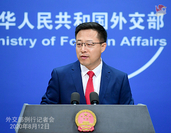 Foreign Ministry spokesman Zhao Lijian takes questions at a regular media briefing in Beijing on Aug 12, 2020. [Photo/Foreign Ministry official website]