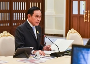 PM Prayut Chan-o-cha chairs the meeting of the 5G steering panel on Friday.